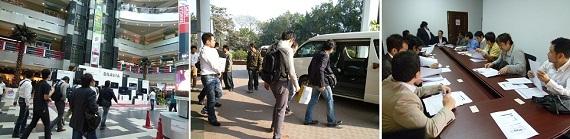 バングラデシュ視察ツアーの風景