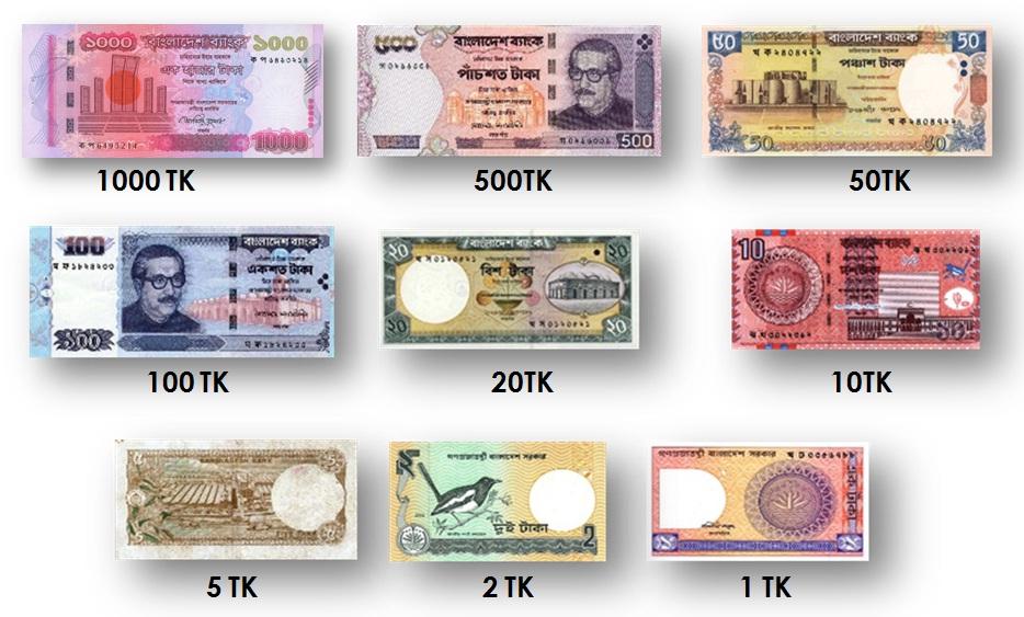 バングラデシュの紙幣