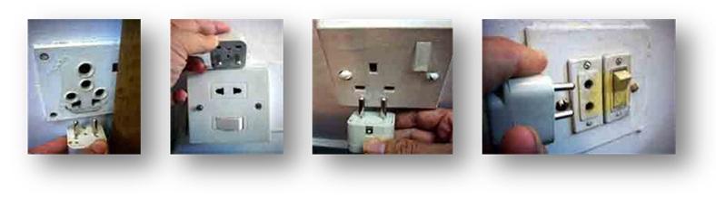 バングラデシュで電源コンセントの形式
